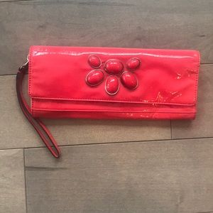 Handbags - Coral red clutch wristlet